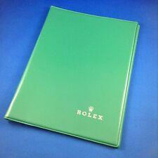 Rolex Map Notebook Notepad Green Circa 1970
