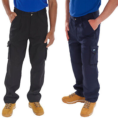 Click Traders Newark Polycotton Cargo Combat Work Trousers Pants Knee Pad Pocket