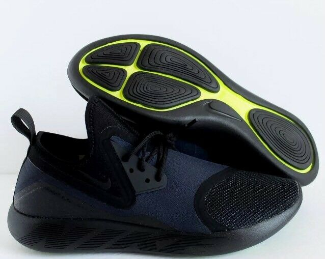 NIKE LUNARCHARGE ESSENTIAL BLACK DARK OBSIDIAN VOLT Price reduction Comfortable and good-looking