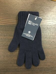 Men-039-s-Pure-Cashmere-Gloves-Johnstons-of-Elgin-Made-in-Scotland-Navy