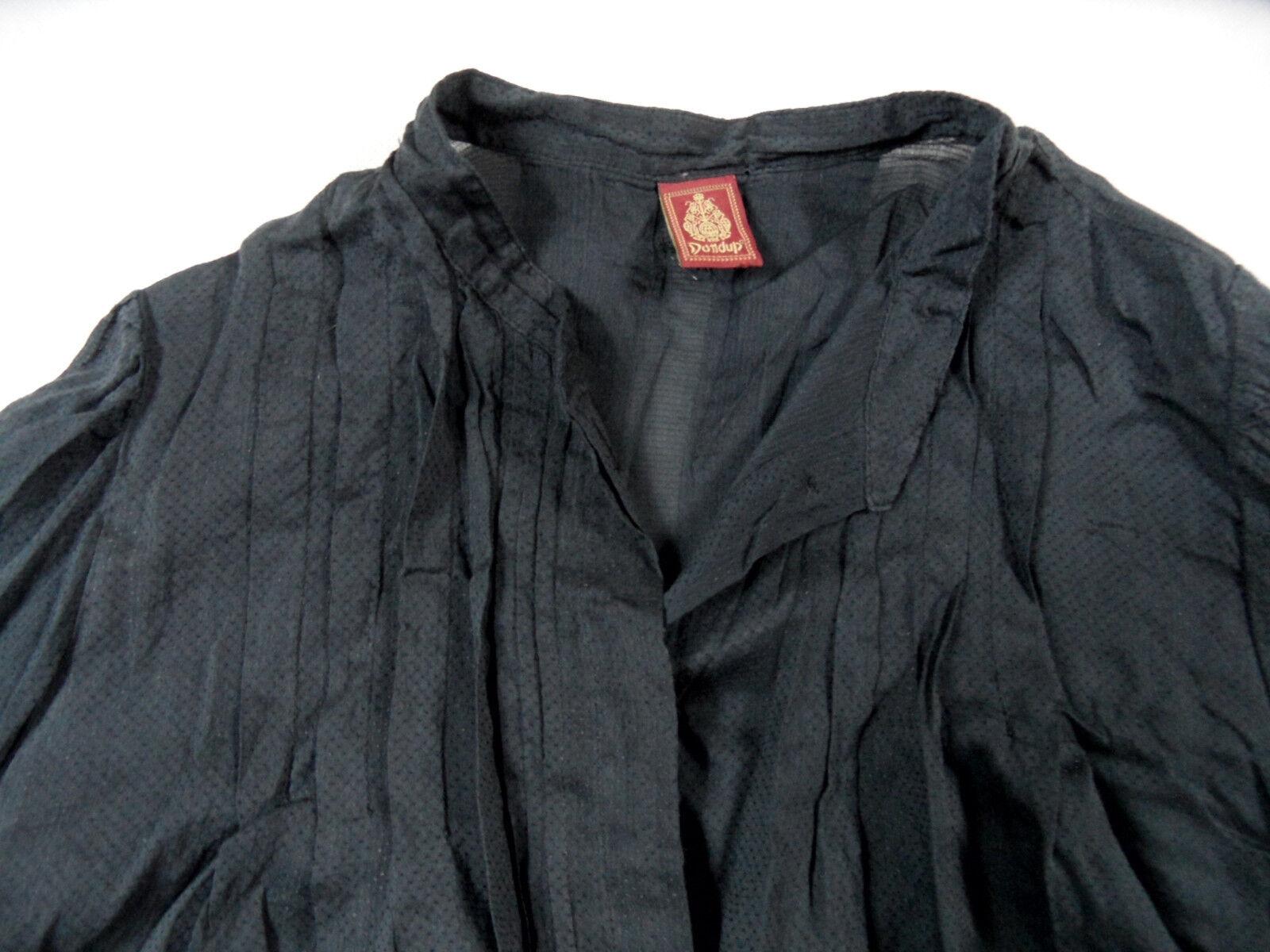 DONDUP bella camicia leggero leggero leggero con seta grigio scuro TG. 40 Top bi1118 028f61