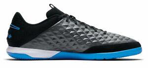 Nike-Hommes-Salles-Chaussure-De-Football-Chaussures-Legend-8-Academy-IC-Noir-Bleu