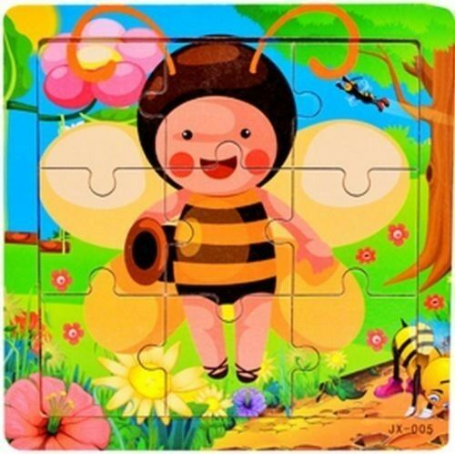 FD415 Baby Kids Educational Training Toy 9Pcs Wooden Puzzle ~Butterfly Bees~