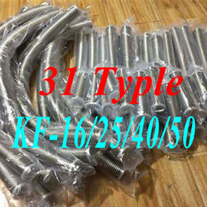 Lots-Sale-ISO-KF-Bellows-Hose-Flange-Flexible-SST-Vacuum-Pipe-Tube-Corrugated