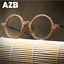 Unisex-Clear-Lens-Acetate-Wood-grain-Frame-Eyeglasses-Round-Retro-Glasses-Hot thumbnail 3