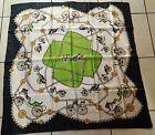vintage foulard, carré soie, pas de marque mais sublime