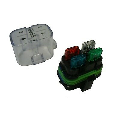 Waterproof Sealed Fuse Relay Panel Block Holder Short Cover 12 V Car Truck ATV