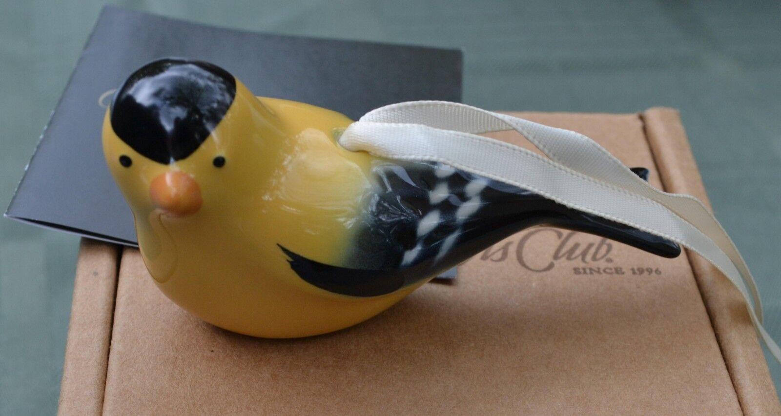 Longaberger Pottery 2009 CC Collector/'s Club USA EASTERN BLUEBIRD ORNAMENT