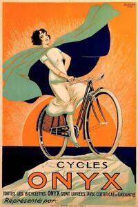 Cycles-Onyx-par-fritayre-velo-Publicite-Art-Imprime-Poster-24x36-pouces