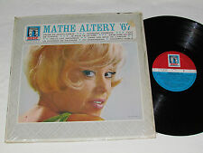 MATHE ALTERY '67 LP 1967 Muse Records Canada M.62.010 VG+/NM Vinyl French Album