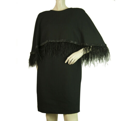 Dimitris Petrou Black Feathers & Beads Mini Length