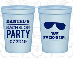 Bachelor Party Favor Cups Cup Favors (40099) Weekend, We Messed Up