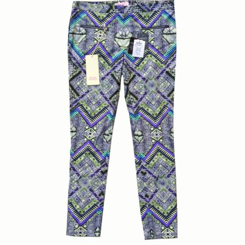 Matthew Williamson Mainline Raj Print Skinny Trousers Size 12 UK 550