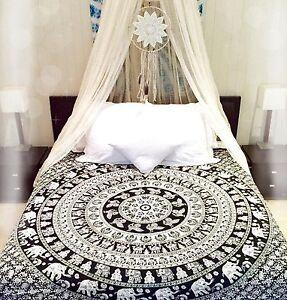 Indian Bohemian Hippie Mandala Bedding Set Queen Size Bedspreads ...