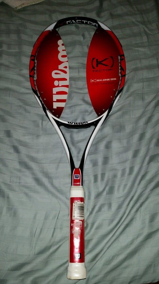 Wilson [K] Factor de seis uno 95 (18 X 20) 6.1 tenis raqueta 4-5 8  Nuevo Envío Gratis
