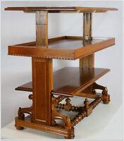 messingtisch tisch art deco couchtisch messingplatte eiche rauchtisch ebay. Black Bedroom Furniture Sets. Home Design Ideas