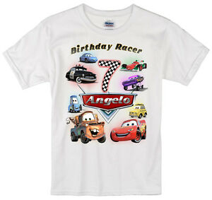 234c2f315 Image is loading Cars-Lightning-McQueen-birthday-shirt-Personalized-Custom- Name-