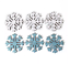 Snowflake Ice Paper Topper 6 Pc Christmas Card Crafts Self Adhesive Free P/&P