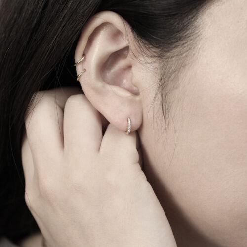 Diamond CALIN Hoop Earring Diamond CALIN Boucles d/'oreilles 9 mm diamant Boucles d/'oreilles créoles