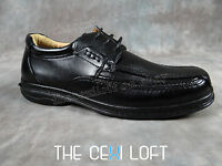 Brand Mens Italia Casual Dress / Driving Shoes Black Faux Leather 12703
