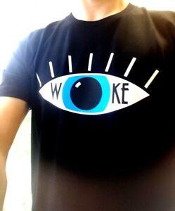 WOKE-awoken-unisex-t-shirt-Erykah-Badu-Jonathon-Pie-eye-open-social-aware-BNWT