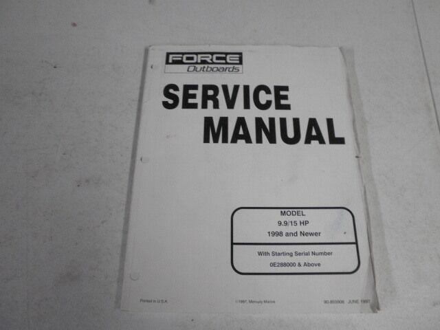 90 855906 mercury force outboard service manual 9 9 15 hp 1998 up rh ebay com force outboard manual pdf free force outboard manual pdf