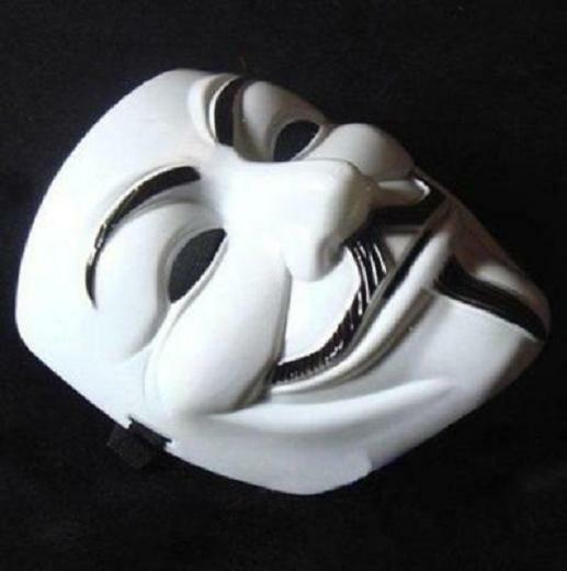 New Anonymous Mask V For Vendetta Costume Collectors Proper White Party Dress Up