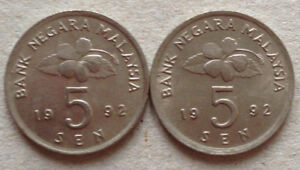 Second-Series-5-sen-coin-1992-2-pcs