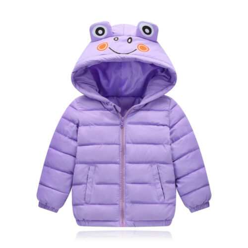 Toddler Kids Baby Boy Girl Winter Jacket Warm Thick Animal Cartoon Hooded Outfit