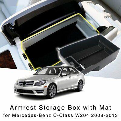 Car 2 PCS  Door Armrest Storage Holder Tray For Benz C Class W204 2008-2013