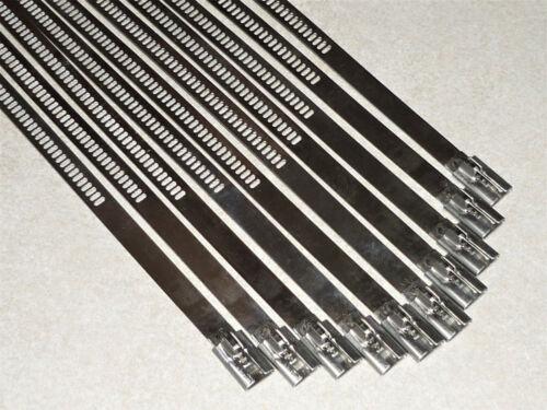 Kabelbinder 7,0 x 200mm Kabelverbinder Edelstahlkabelverbinder 10 St Edelstahl