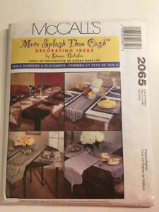 Vintage-1999-McCall-039-s-Pattern-2065-Craft-Table-Runners-amp-Placemats-New-Uncut-Pat