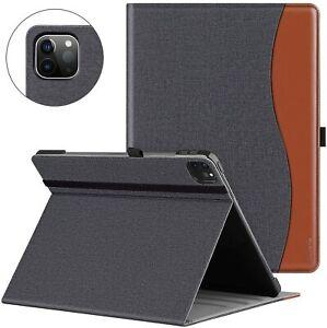 """Ztotop Coque pour iPad Pro 12,9"""" 2020,Housse Étui Cover en Cuir de Denim Noir"""