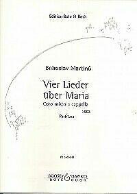 97902025 Four songs about Mary Martinu SATB Bohuslav choral score mixed choir