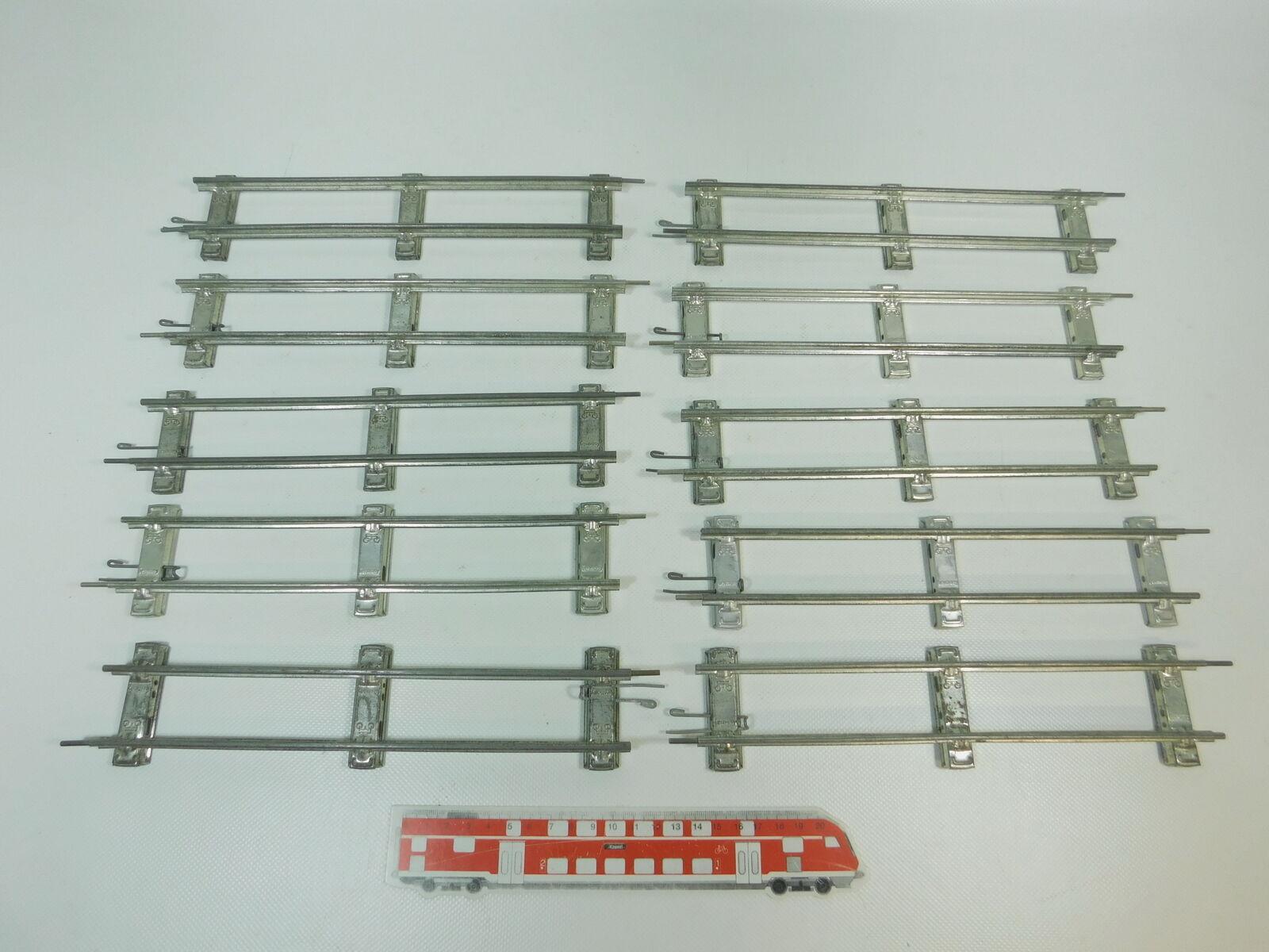 BK316-1  10x Märklin Spur 0 Gleis Gleisstück gerade (26 cm) für Uhrwerk-Betrieb