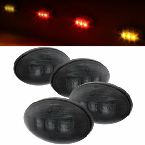 Fit-99-10-Ford-F250-F350-F450-Superduty-Smoked-Dually-Fender-LED-Marker-Lights