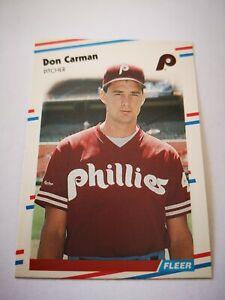 Fleer 1988 carte card Baseball MLB US NM+/M Philadelphia Phillie #300 Don Carman