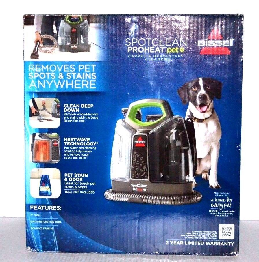 Bissell Spotclean Proheat Pet Carpet Upholstery Cleaner 5207w Ebay