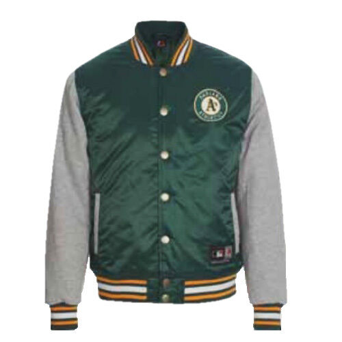 Majestic Oakland Athletics Varsity Padded Bomber Baseball Jacket ...
