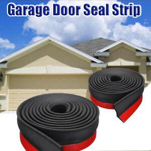 Black-1m-Garage-Door-Bottom-Stripping-Rubber-Seal-Strip-Door-Replacement-Sealing