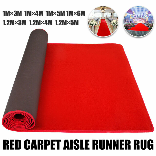 9.8x4ft Red Carpet Aisle Floor Rug Party Decor Stairs Crowd Control Easy Clean