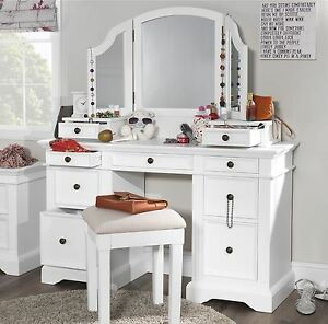 Image Is Loading Gainsborough White Dressing Table Set Extension
