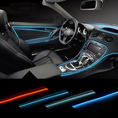 Led Per Auto Interni.1 2 3m Led El Wire Rope Flexible Neon Glow Car Party Light Strip Tube Decor 12v Ebay