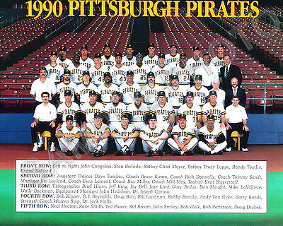 1990 PITTSBURGH PIRATES BASEBALL TEAM 8X10 PHOTO | eBay