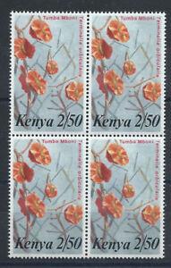Kenya-N-250-MNH-1983-en-bloc-de-4-tp-Fleurs-034-Terminalia-orbicularis-034