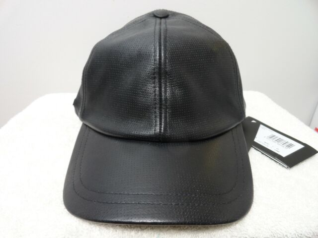 a42e224091b ARMANI EXCHANGE CAP HAT BLACK 100% ALL LEATHER ONE SIZE FITS ALL BRAND NEW  RARE