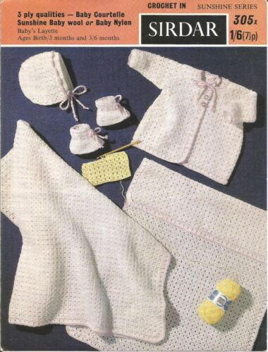 VINTAGE CROCHET PATTERN LAYETTE FOR BABY