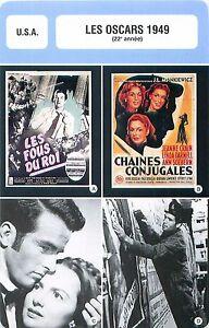 FICHE-CINEMA-USA-LES-OSCARS-1949-22-e-annee