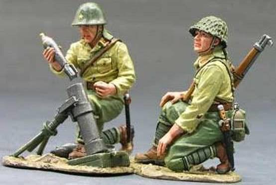 King & Land Iwo Jima iwj027 Japanisch Mortar Team MIB