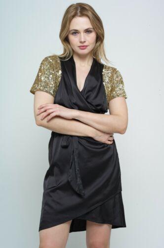 Sequin Bolero Top Jacket Gold One Size
